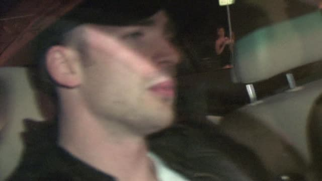 chris evans at industry in west hollywood at the celebrity sightings in los angeles at los angeles ca - avvistamenti vip video stock e b–roll