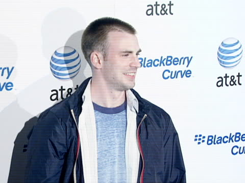 Chris Evans at the BlackBerry Curve from ATT US Launch Party at Beverly Hills California