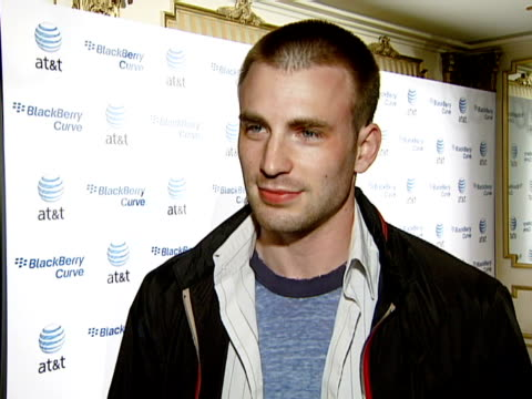 chris evans at the blackberry curve from at&t u.s. launch party at beverly hills california. - curve stock videos & royalty-free footage