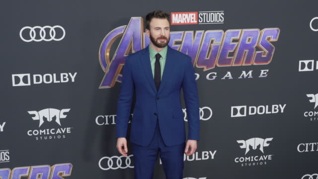 "vídeos de stock, filmes e b-roll de chris evans at the world premiere of marvel studios' ""avengers: endgame"" at los angeles convention center on april 22, 2019 in los angeles,... - estreia"