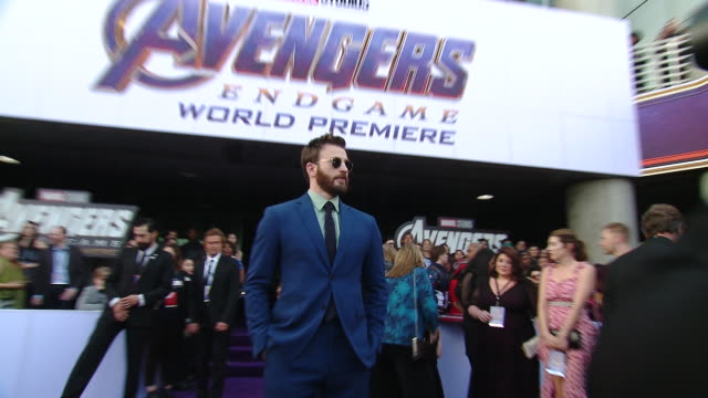 Chris Evans at the World Premiere of Marvel Studios' Avengers Endgame