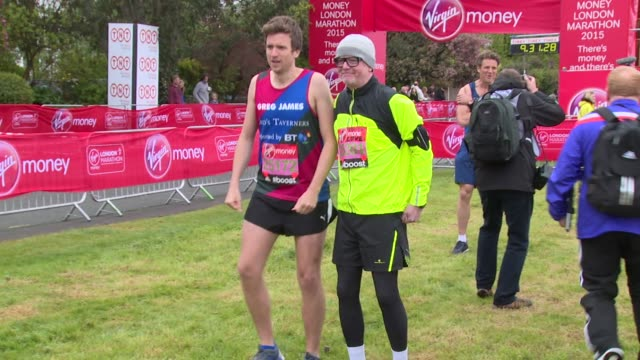 broll chris evans jenson button christy turlington james cracknell greg james laura harvey at virgin london marathon 2015 on 26th april 2015 in... - greg james stock videos and b-roll footage