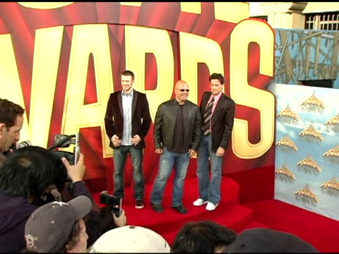chris evans, michael chiklis and ioan gruffudd, at the 2005 mtv movie awards arrivals at the shrine auditorium in los angeles, california on june 4,... - michael chiklis stock videos & royalty-free footage