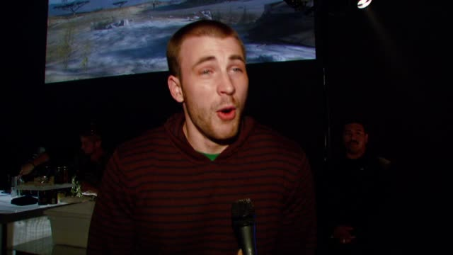 chris evans on why he's excited for the release of halo 3 at the xbox 360® halo 3 sneak preview at quixote studios west in hollywood california on... - xbox stock videos & royalty-free footage