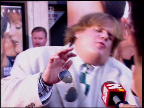 Chris Farley at the 'Nine Months' Premiere on July 11 1995