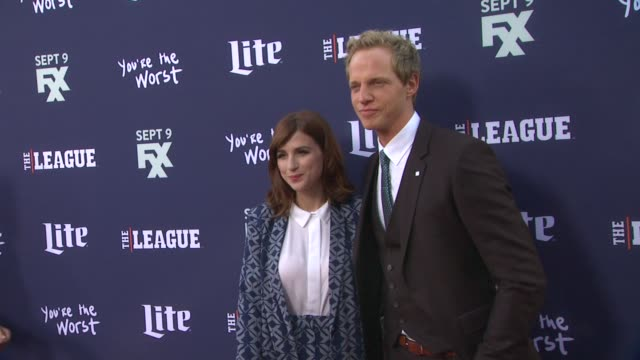 Chris Geere and Aya Cash at the Premiere of FXX's The League Final Season and You're The Worst 2nd Season at Regency Bruin Theater on September 08...