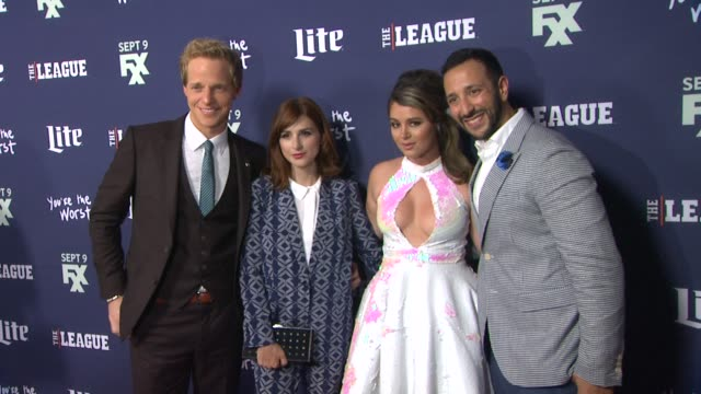 Chris Geere Aya Cash Kether Donohue and Desmin Borges at the Premiere of FXX's The League Final Season and You're The Worst 2nd Season at Regency...