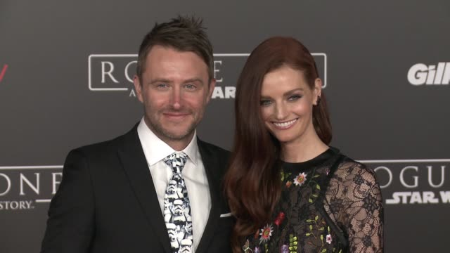 Chris Hardwick and Lydia Hearst at Rogue One A Star Wars Story World Premiere at the Pantages Theatre on December 10 2016 in Hollywood California