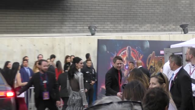 Chris Hardwick arrives at the premiere of Avengers Infinity War in Hollywood in Celebrity Sightings in Los Angeles