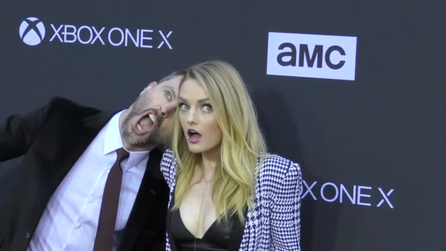 Chris Hardwick Lydia Hearst at AMC's The Walking Dead 100th Episode Season 8 Special Premiere Screening at The Greek Theatre on October 22 2017 in...