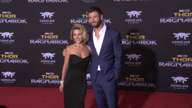 Chris Hemsworth and Elsa Pataky at the Thor Ragnarok Premiere at the El Capitan Theatre on October 10 2017 in Hollywood California
