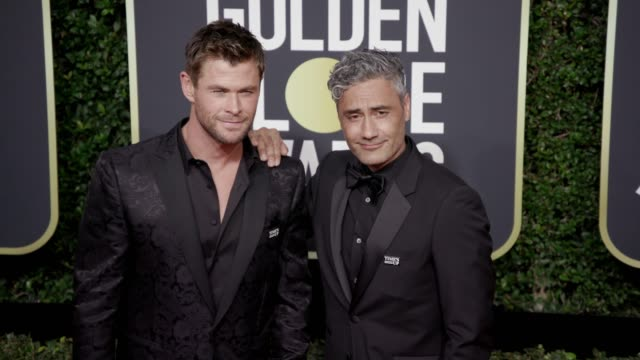 Chris Hemsworth and Taika Waititi at the 75th Annual Golden Globe Awards at The Beverly Hilton Hotel on January 07 2018 in Beverly Hills California