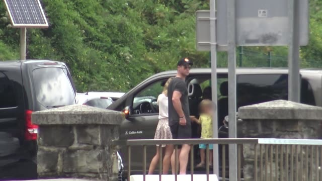 Chris Hemsworth Elsa Pataky and their kids are seen on Getaria
