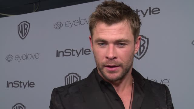 interview chris hemsworth on why he wanted to celebrate with instyle the most special part of the evening and why it was important for him to support... - time's up social movement stock videos and b-roll footage