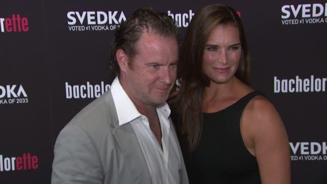 "chris henchy, brooke shields at ""bachelorette"" - new york premiere at sunshine landmark on september 04, 2012 in new york, new york - クリス ヘンチー点の映像素材/bロール"