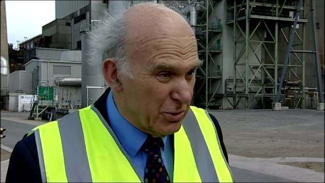 chris huhne and vicky pryce freed from prison vince cable interview england tyneside gateshead ext vince cable mp interview sot on divisions within... - gateshead stock videos and b-roll footage