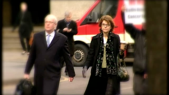 jury hears that wife sought revenge england london southwark crown court ext vicky pryce arriving at court - ビッキー・プライス点の映像素材/bロール