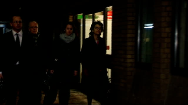 vicky pryce continues to give evidence night pryce along from court with others - ビッキー・プライス点の映像素材/bロール