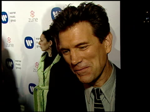 vídeos de stock, filmes e b-roll de chris isaak on the event at the warner music group 2007 grammy awards afterparty at the cathedral in los angeles california on february 11 2007 - chris isaak