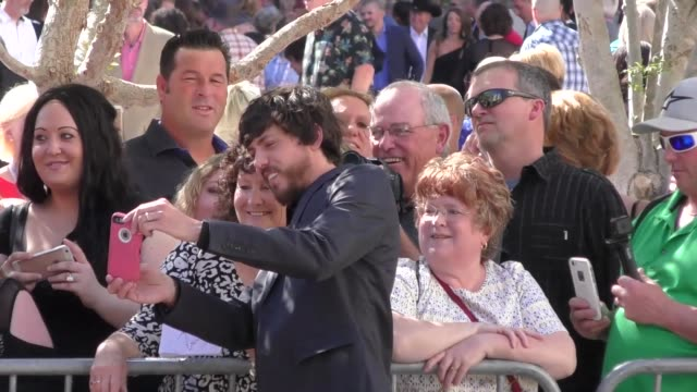 chris janson arriving to the 52nd academy of country music awards in celebrity sightings in las vegas - academy of country music awards stock videos & royalty-free footage