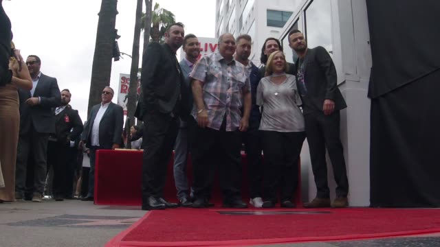 nsync chris kirkpatrick lance bass jc chasez joey fatone and justin timberlake at the *nsync honored with a star on the hollywood walk of fame on... - jc chasez stock videos & royalty-free footage
