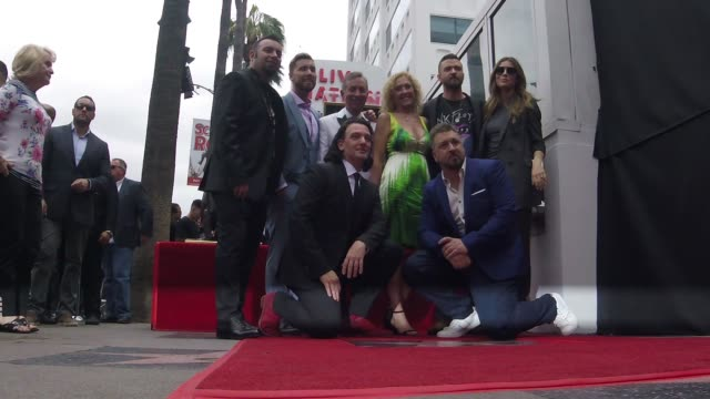chris kirkpatrick, lance bass, jc chasez, joey fatone, justin timberlake and jessica biel at the *nsync honored with a star on the hollywood walk of... - joey fatone stock videos & royalty-free footage