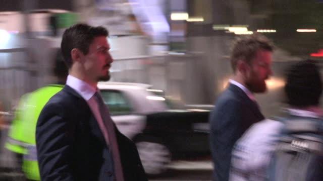 Chris Kreider and Ryan Haggerty depart from LA KingsNY Rangers Game 2 at Staples Center on June 07 2014 in Los Angeles California