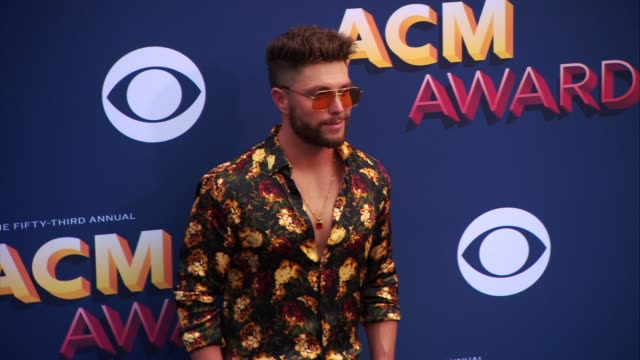 chris lane at the 53rd academy of country music awards at mgm grand garden arena on april 15 2018 in las vegas nevada - academy of country music awards stock videos & royalty-free footage