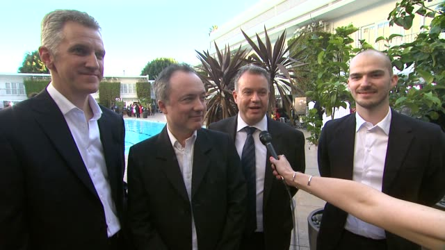 chris lawrence timothy webber david shirk neil corbould on awards season the oscar luncheon at the 86th academy awards nominee luncheon interviews at... - the beverly hilton hotel stock videos & royalty-free footage