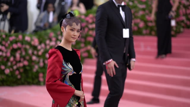 chris lee at the 2019 met gala celebrating camp notes on fashion arrivals at metropolitan museum of art on may 06 2019 in new york city - met gala 2019 stock videos and b-roll footage