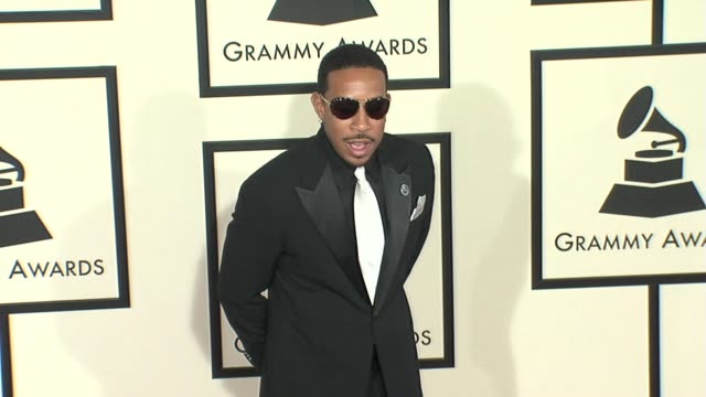 chris ludacris bridges at the 50th annual grammy awards at los angeles california - ludacris stock videos & royalty-free footage