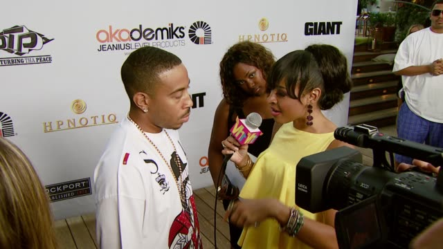 chris 'ludacris' bridges at the akademiks and disturbing tha peace hold private reception hosted by ludacris bobby v chingy steph jones and playaz... - ludacris stock videos & royalty-free footage