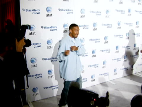 chris 'ludacris' bridges at the blackberry curve from att us launch party at beverly hills california - ludacris stock videos & royalty-free footage