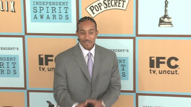 chris ludacris bridges at the the 21st annual ifp independent spirit awards in santa monica california on march 4 2006 - ifp independent spirit awards stock videos and b-roll footage