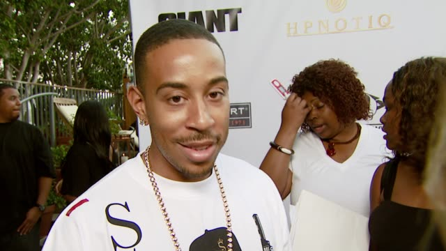 chris 'ludacris' bridges on the bet awards on surrounding himself with beautiful women on his current projects and collaborations and on his albums... - ludacris stock videos & royalty-free footage
