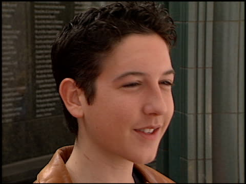 chris marquette at the 'when dinosaurs roamed america' premiere at the los angeles county museum of art in los angeles, california on july 7, 2001. - ロサンゼルスカウンティ美術館点の映像素材/bロール