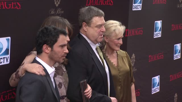 chris messina rose byrne glenn close john goodman at the 'damages' season 4 premiere at new york ny - damages television show stock videos and b-roll footage