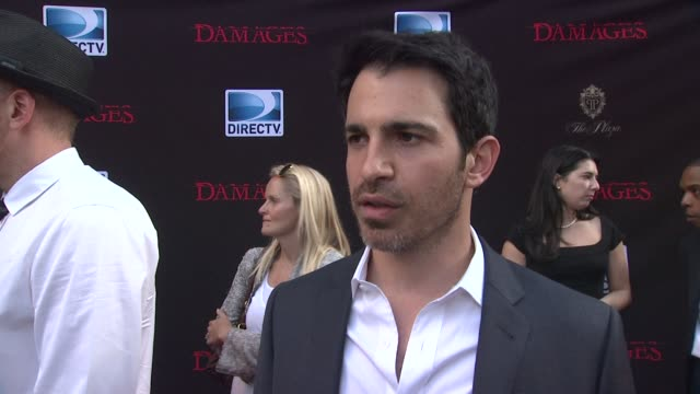 chris messina talks about what the transition is like from tv and film why audiences like the show who his character is how he's introduced in the... - damages television show stock videos and b-roll footage