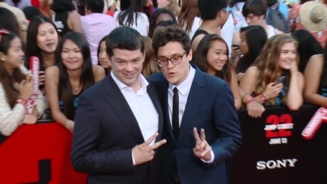 chris miller phil lord at 22 jump street los angeles premiere at regency village theatre on june 10 2014 in westwood california - regency style stock videos and b-roll footage