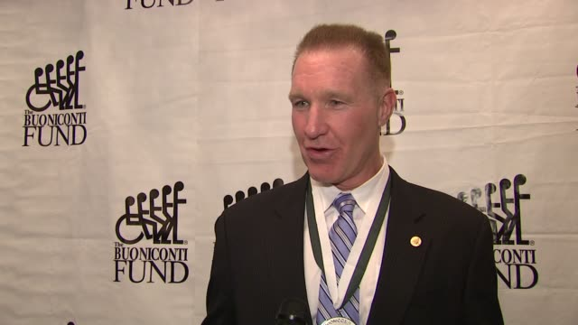 Chris Mullin talks about what it means to be honored and surrounded by hall of famers whom he admires at the The 26th Annual Sports Legends Dinner At...