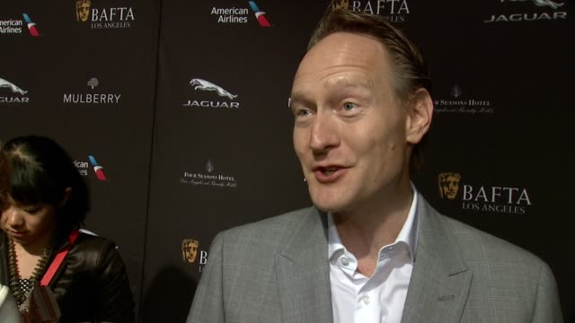 interview chris o'connor on being at the event on what makes the bafta tea party one of the most prestigious events of the weekend and on getting... - tea party stock videos and b-roll footage