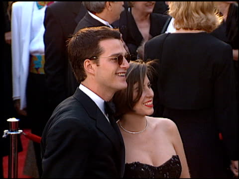 chris o'donnell at the 1996 academy awards arrivals at the shrine auditorium in los angeles, california on march 25, 1996. - 第68回アカデミー賞点の映像素材/bロール