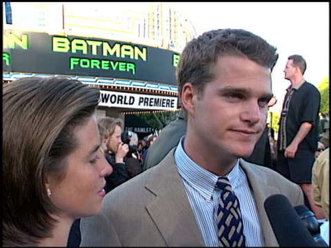 Chris O'Donnell at the 'Batman Foreve'r Premiere on June 9 1995