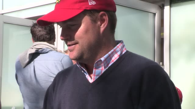 Chris O'Donnell on Ben Affleck as Batman at the LA Kings vs Blackhawks at the Staples Center at Celebrity Sightings in Los Angeles on May 26 2014 in...