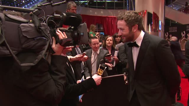 chris o'dowd at the iftas at convention centre dublin, ireland on february 11th 2012 - irish film and television awards stock videos & royalty-free footage