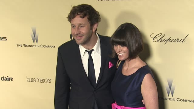 chris o'dowd dawn porter at the weinstein company's 2013 golden globe awards after party on 1/13/13 in beverly hills ca - porter stock videos & royalty-free footage