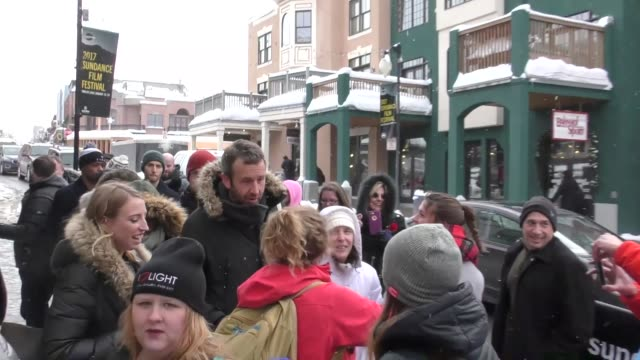 chris o'dowd on main street at the sundance film festival in park city at celebrity sightings on january 21 2017 in park city utah - sundance film festival stock videos & royalty-free footage