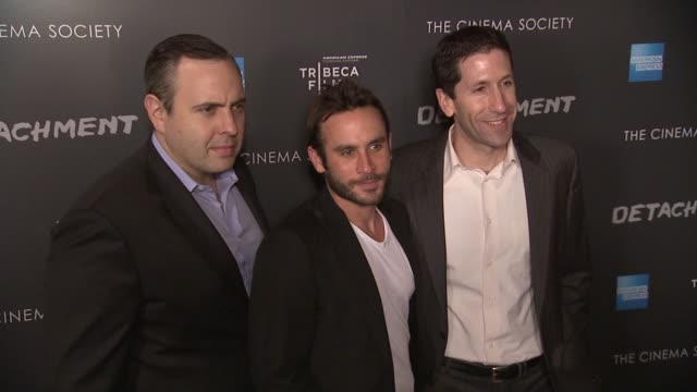 chris papavasiliou austin stark and peter sterling at premiere of tribeca film's detachment hosted by american express the cinema society on... - pound sterling symbol stock videos & royalty-free footage