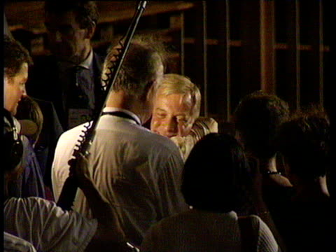 chris patten bidding farewell to friends at quayside prior to departure hong kong handover 30 jun 97 - editorial bildbanksvideor och videomaterial från bakom kulisserna