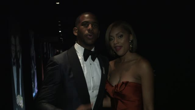 chris paul and jada crawley at the 2014 vanity fair oscar party hosted by graydon carter - arrivals on march 02, 2014 in west hollywood, california. - oscar party stock videos & royalty-free footage